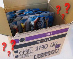 Carrinhos encaixotados: Um problema para manter organizado