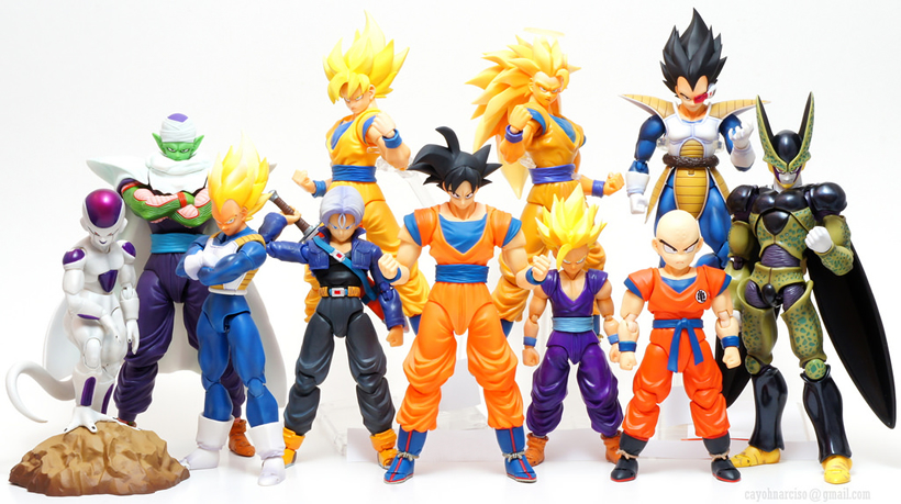 Bandai - SH Figuarts - Alguns actions figures Dragon Ball
