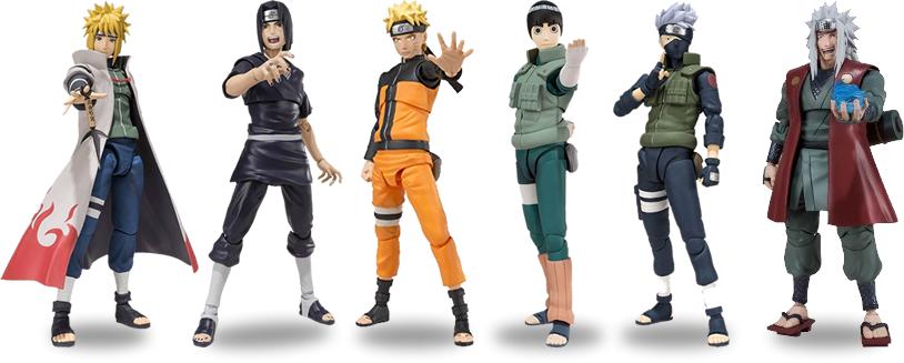 Bandai - SH Figuarts - Alguns actions figures Naruto