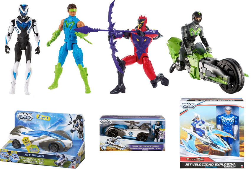 Mattel - Max Steel - Alguns produtos