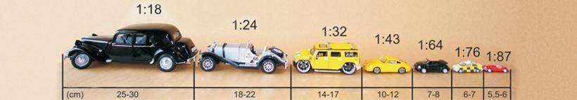 Veículos em miniaturas - Diferentes escalas