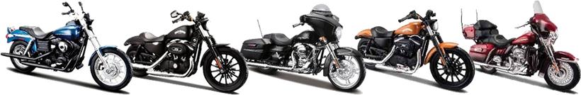 Alguns modelos motos Harley Davidson - Maisto