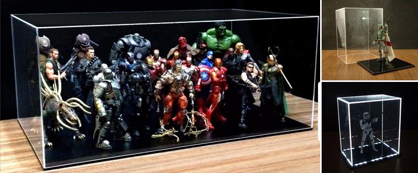 Organizar coleção action figures - acrílicos