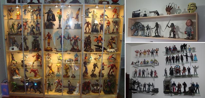 Organizar coleção de action figures - Prateleiras e estantes